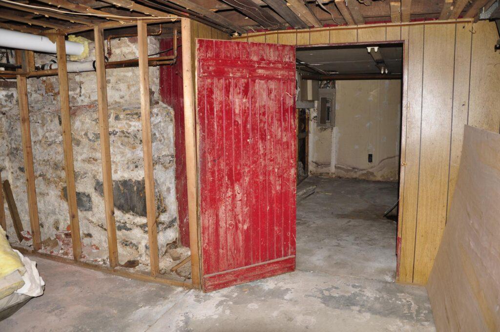 under renovation basement room